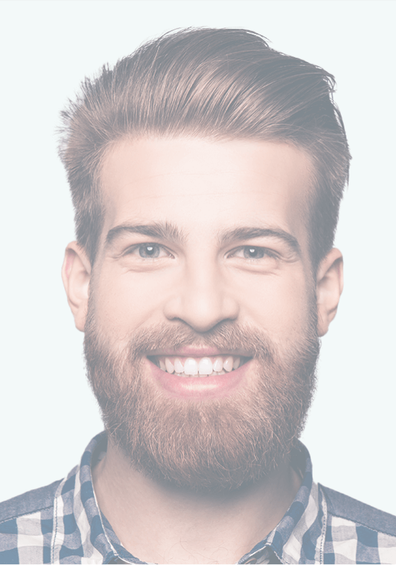 Man with healthy happy smile